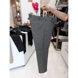 Pantalon noir/écru